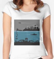 Ecology pollution Women's Fitted Scoop T-Shirt