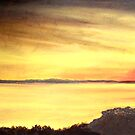 Cove Near Benidorm Spain by Herb Dickinson