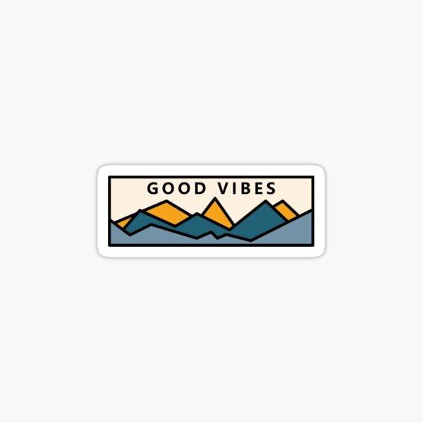 "Super Cute Granola Girl Sticker! ""Good Vibes"" Sticker"