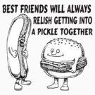 Best Friends Hamburger & Hotdog Trouble by FireFoxxy