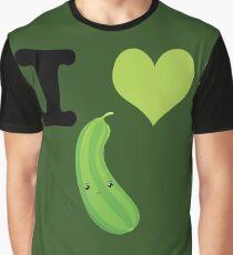 Cute Kawaii I Heart Zucchini Graphic T-Shirt