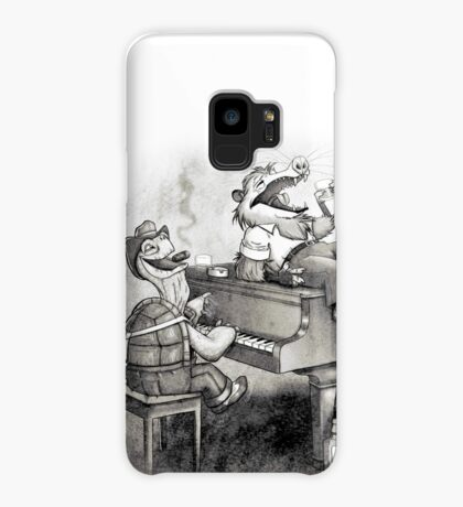 Tortoise and possum's night out. Case/Skin for Samsung Galaxy
