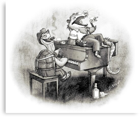 Tortoise and possum's night out. by stieven