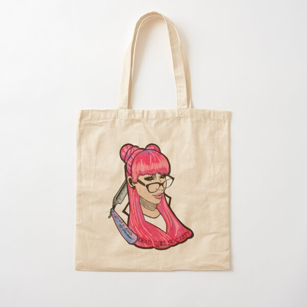 Dead Girl Society: A Little Off the Top Cotton Tote Bag