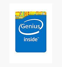 Genius inside Photographic Print