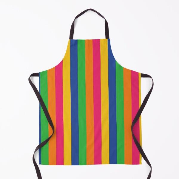 Multi Coloured Stripes Apron
