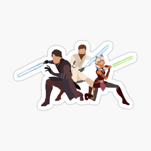 Clone Wars Trio (Anakin,Obi-Wan,Ashoka) Sticker