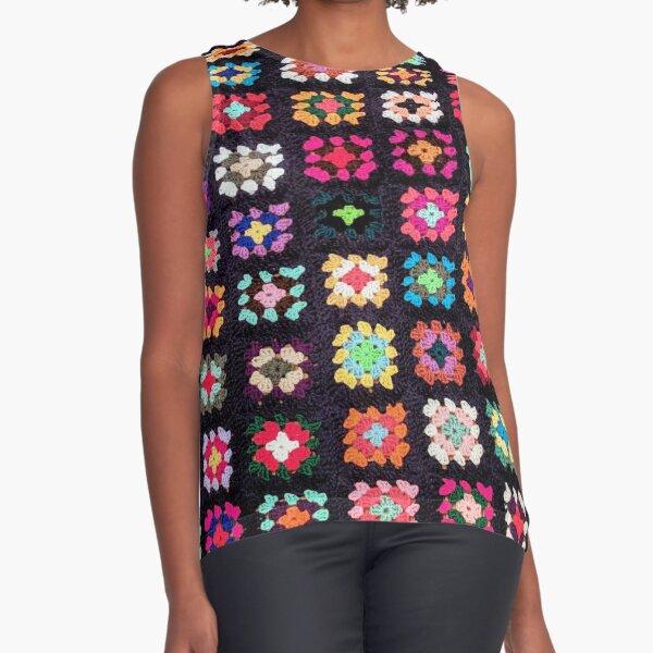 Roseanne Blanket Inspired Design Sleeveless Top
