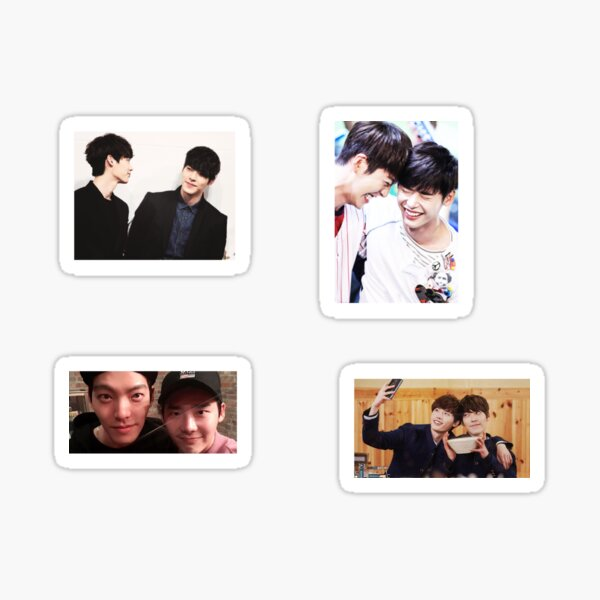 Lee Jong Suk + Kim Woo Bin Couple Stickers  Sticker
