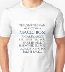 The Daft Old Man who Stole a Magic Box T-Shirt