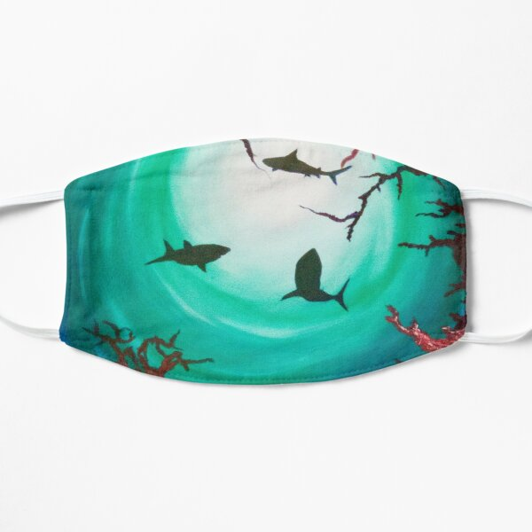 Shark shadow with coral reef Mask