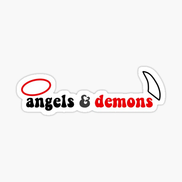 all these angels and demons sticker  Sticker