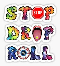 Stop, drop and roll Rainbow Sticker