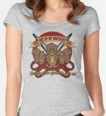 Day of the Squirrel - Sears Squirrel Commercial Parody - Coupon Cutting Squirrels Revolt - Nut Up My Brothers Women's Fitted Scoop T-Shirt