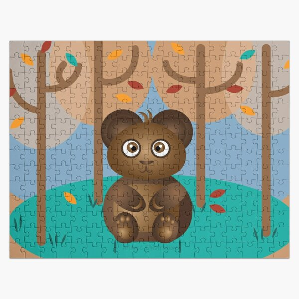Brown Bear Sitting in the Woods Jigsaw Puzzle