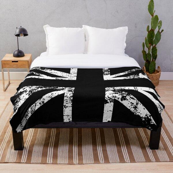 United Kingdom Black Flag Throw Blanket