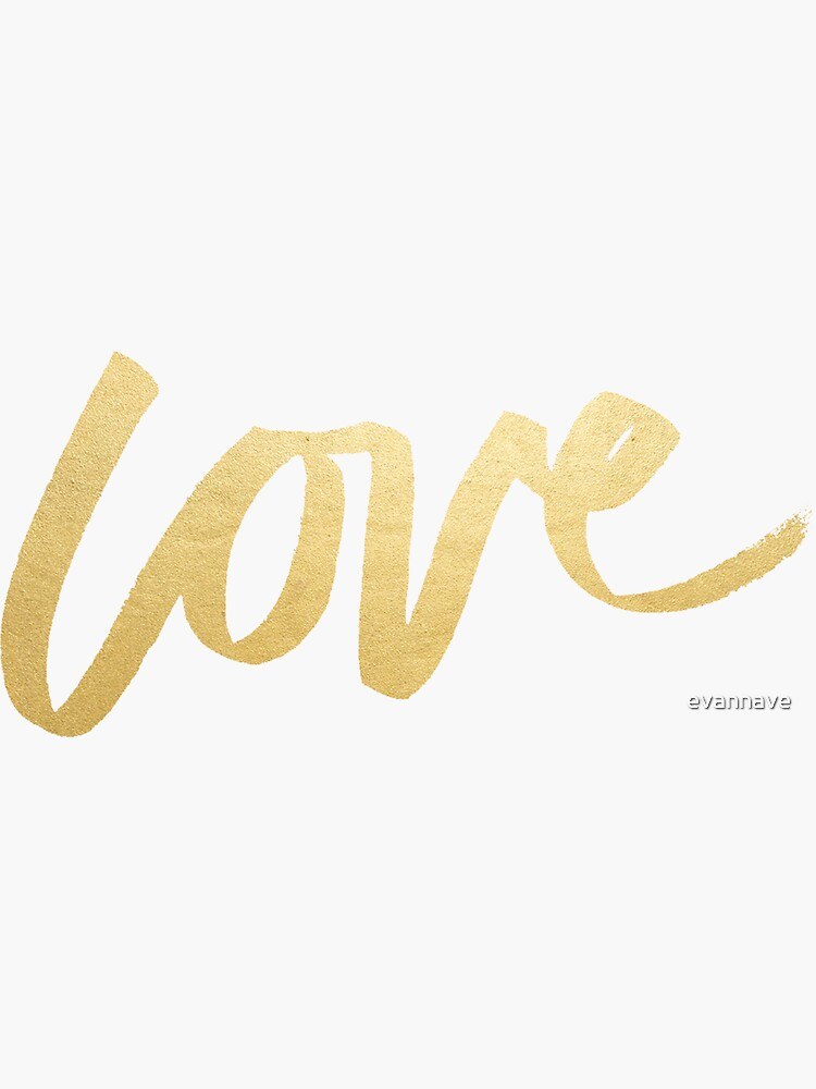 Love Gold Black Typography by evannave