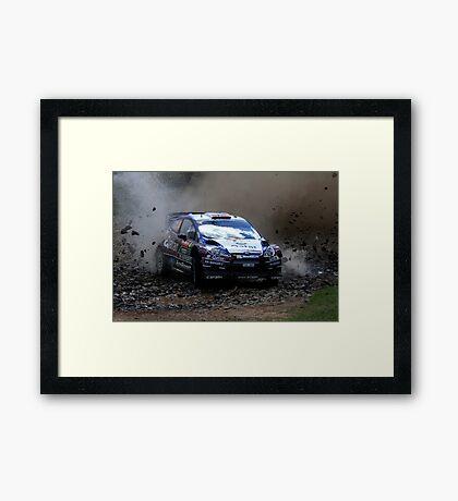 Mads Ostberg - World Rally Championship Australia - Sunday 2013 Framed Print