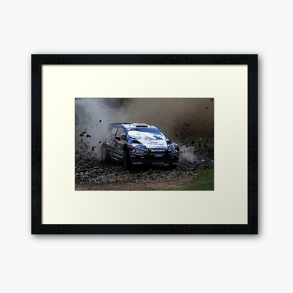 Mads Ostberg - World Rally Championship Australia - Sunday 2013 Framed Art Print
