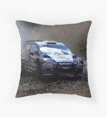 Mads Ostberg - World Rally Championship Australia - Sunday 2013 Throw Pillow