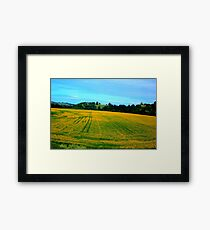 A Bit of Country Side with shining yellow mustered field Framed Print