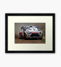 Miko Hirvonen - FIA World Rally Championship Australia 15.09.2013 Framed Print