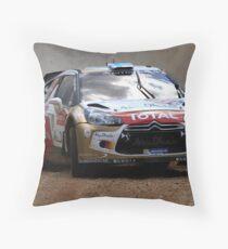 Miko Hirvonen - FIA World Rally Championship Australia 15.09.2013 Throw Pillow