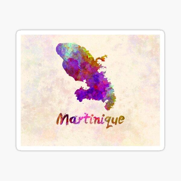 Copia de Carte aquarelle de martinique Sticker