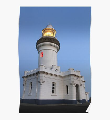 Cape Byron lighthouse with lights Poster