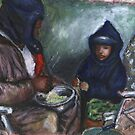 Shellin Peas with Grandpa by Alga Washington