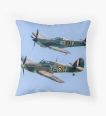 BBMF Hurricane IIc LF363 and Spitfire LF.XVIe TE311 Throw Pillow