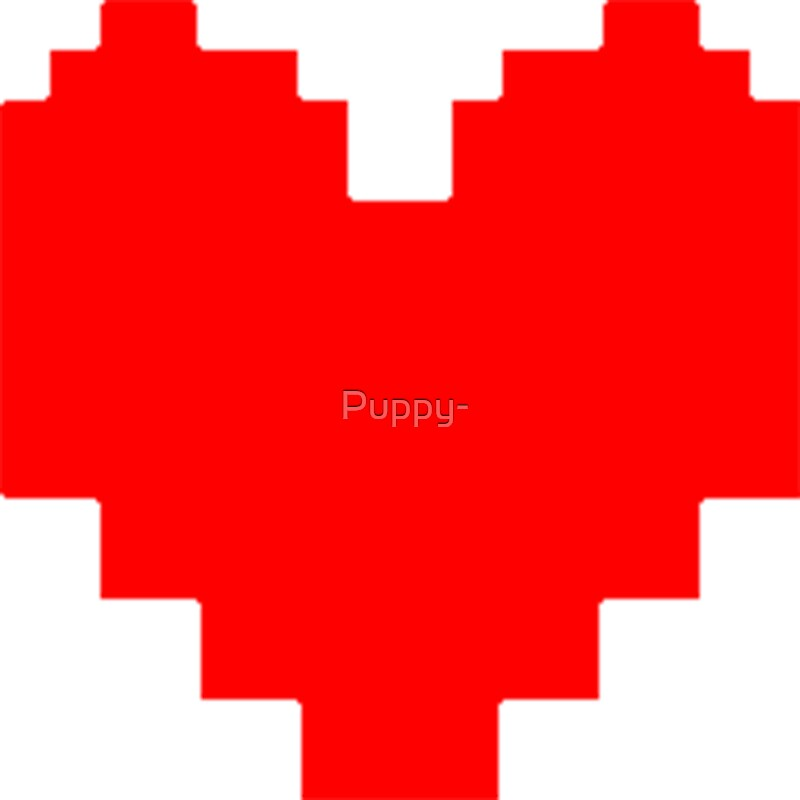 Quot Undertale Heart Quot Stickers By Puppy Redbubble
