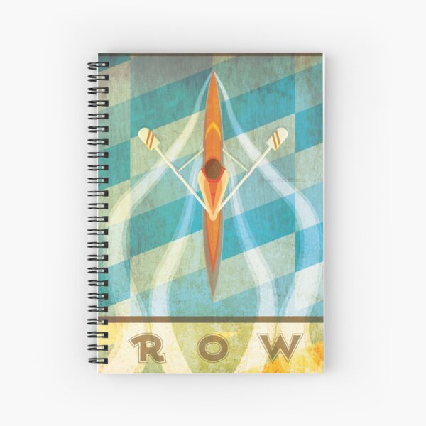 The Serenity of Sculling Spiral Notebook