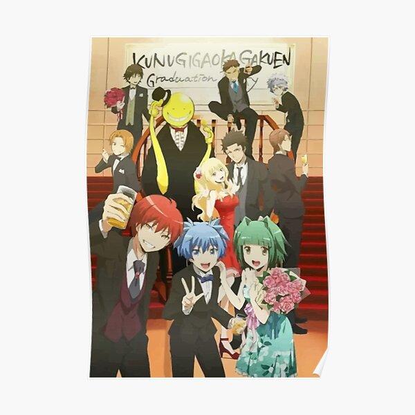 Assassination Classroom Koro Sensei Itona Karma Nagisa Graduation school party Poster