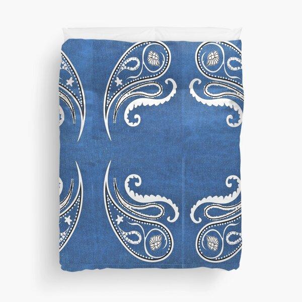Blue Bandanna Design Duvet Cover