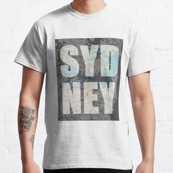 Sydney, New South Wales map Classic T-Shirt