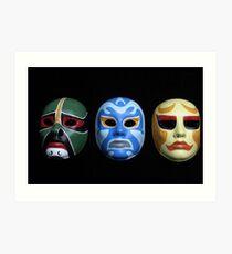 3 ninjas masks Art Print