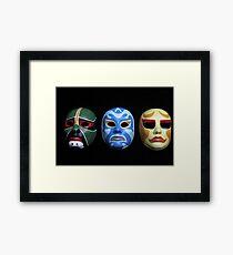 3 ninjas masks Framed Print