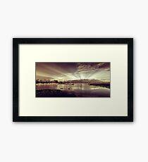 Sun Rays At Fleet Pond Framed Print