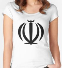 Emblem of Iran Women's Fitted Scoop T-Shirt