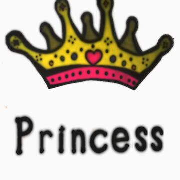 Funny Princess Shirt or Sticker for Girls and Women by MarinaArts
