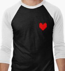 Undertale Heart Men's Baseball ¾ T-Shirt