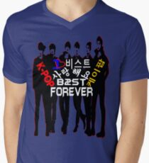 ♥♫I Love B2ST Forever Splendiferous K-Pop Clothes & Stickers♪♥ Men's V-Neck T-Shirt
