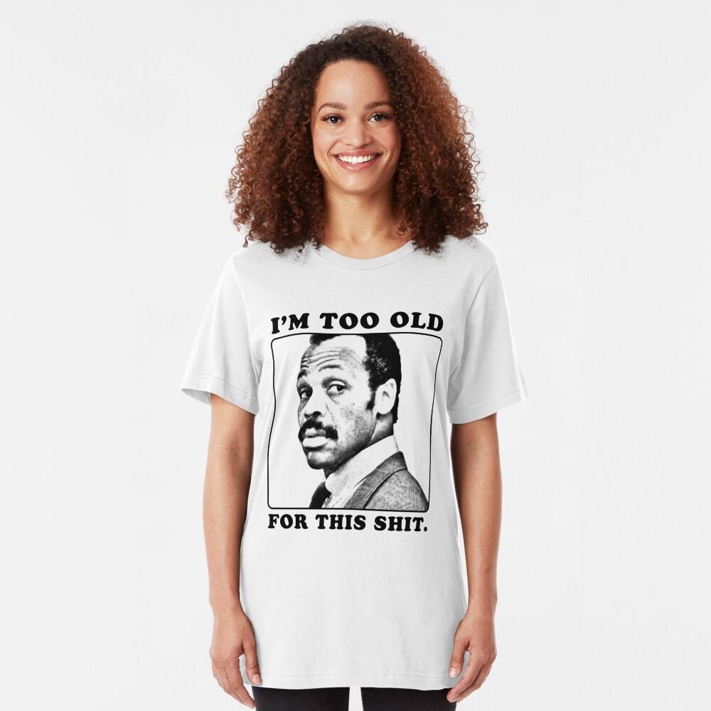 Roger Murtaugh ist zu alt für diese Scheiße (tödliche Waffe) Slim Fit T-Shirt