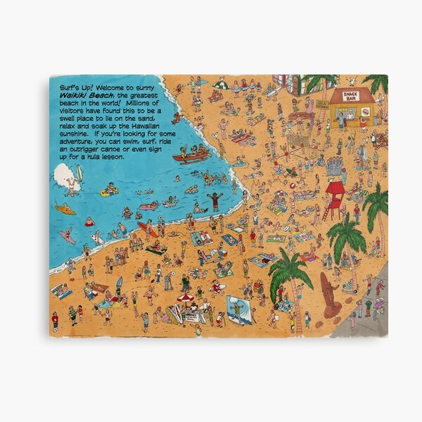 Where's Kimo? The Full View Of Waikiki Beach Metal Print