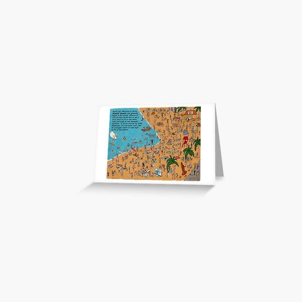 Where's Kimo? The Full View Of Waikiki Beach Greeting Card