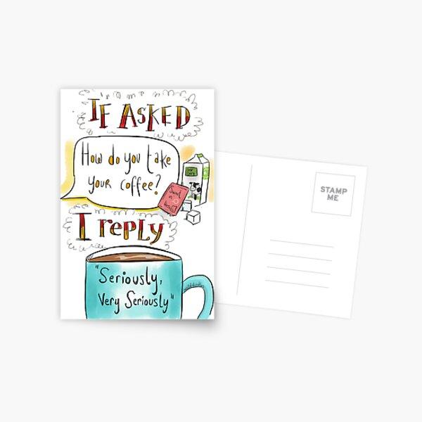 How do you take your coffee? Postcard