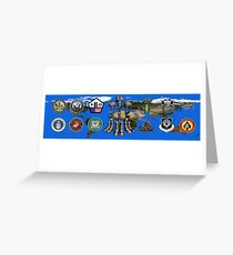 Fallen Soldier Battle Cross Veteran and 9/11 Memorial Wall Painting Greeting Card