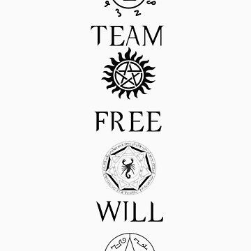 Supernatural 'TEAM FREE WILL' by CrimsonRogue