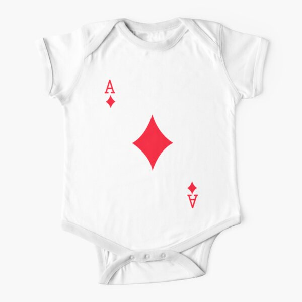 Ace of Diamonds Short Sleeve Baby One-Piece